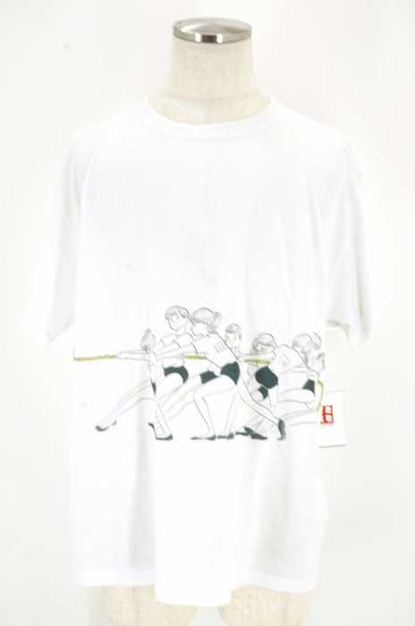 UNITED ATHLE×たなかみさき(ユナイテッドアスレ たなかみさき) 運動会/綱引き イラストTシャツ メンズ トップス