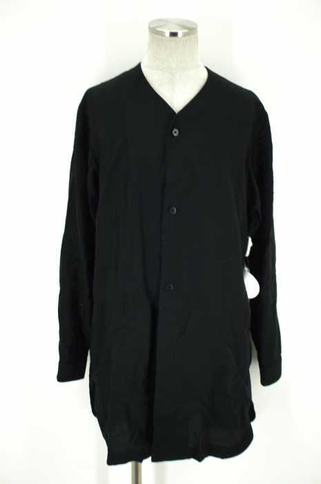 ETHOSENS (エトセンス) 14AW ノーカラーシャツジャケット メンズ トップス