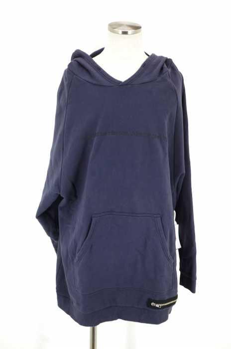 Rags MCGREGOR (ラグスマックレガー) BIG HOODIE SWEAT SHIRTS ビッグフーディースウェットシャツ メッセージプリント裾ジップビッグパーカー メンズ トップス