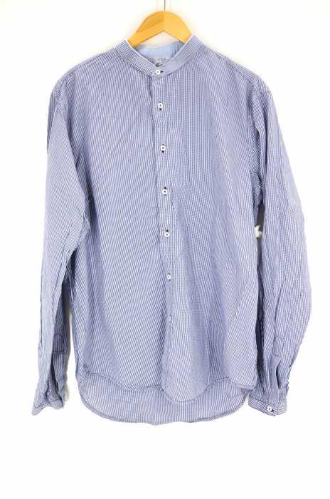 ZARA MAN (ザラマン) バンドカラーチェックシャツ メンズ トップス