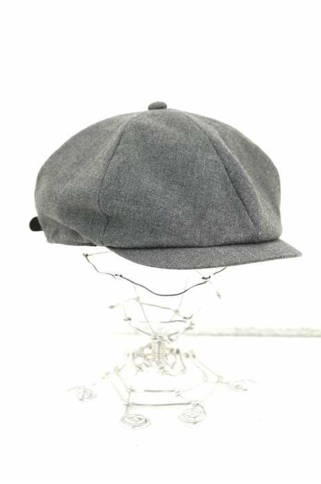 CALEE (キャリー) レザーストラップ キャスケット メンズ 帽子