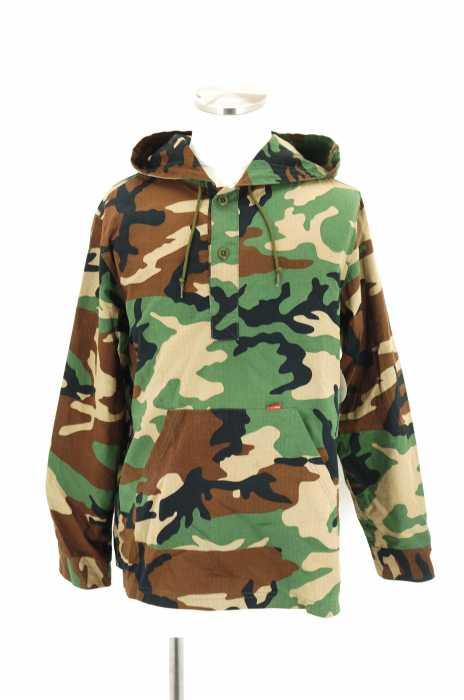 Supreme (シュプリーム) Hooded Ripstop Pullover Shirts フーデッドリップストップ プルオーバーシャツ メンズ トップス