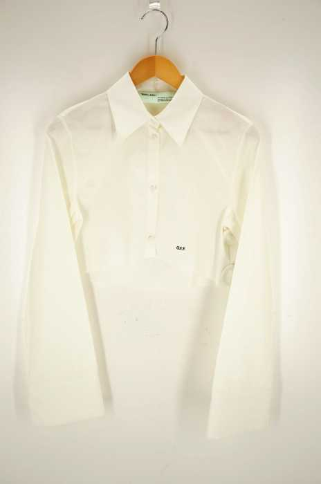OFF-WHITE(オフホワイト) cropped white shirt レディース トップス