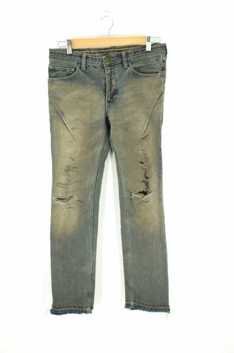 NUMBER (N)INE (ナンバーナイン) 07SS カットオフクラッシュデニムパンツ メンズ パンツ