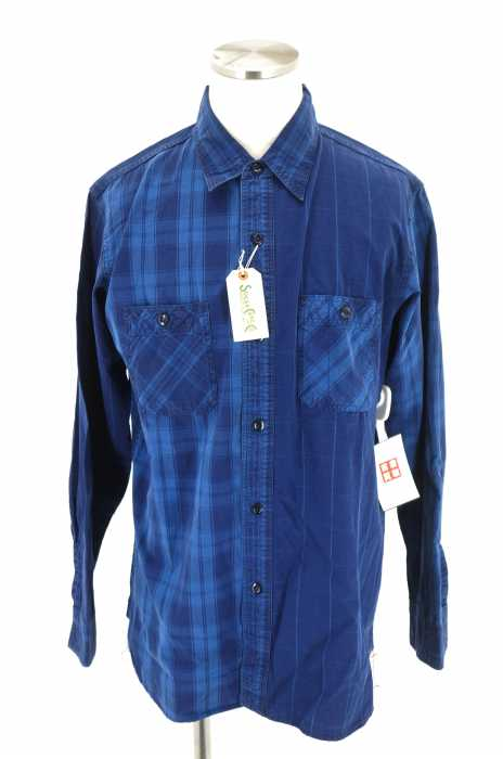 SUGAR CANE (シュガーケーン) インディゴブロードチェックシャツ メンズ トップス