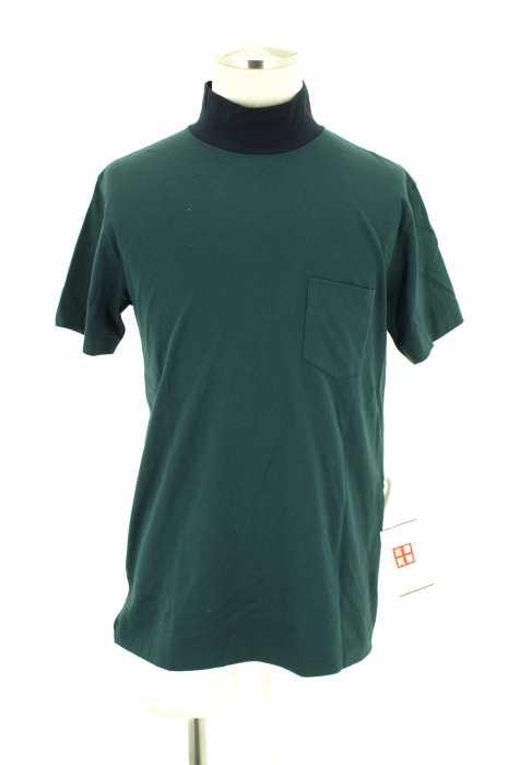 SCYE (サイ) 16SS 60/3度詰め天竺 配色モックタートルTシャツ メンズ トップス
