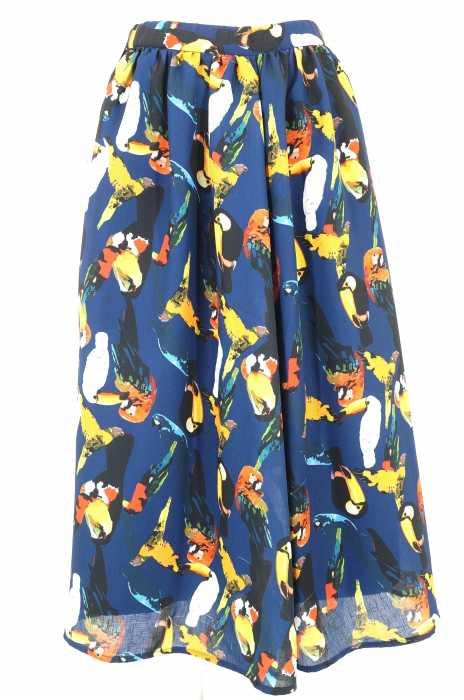 MURUA (ムルーア) バード柄フレアスカート レディース スカート
