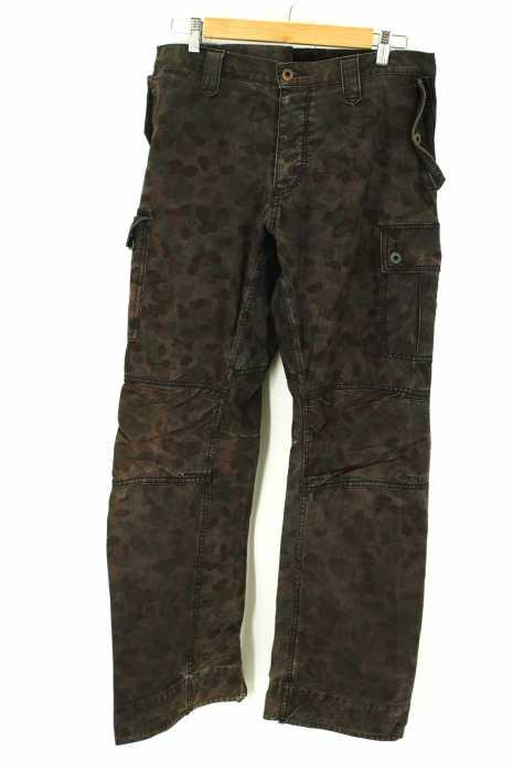 ISAMU KATAYAMA BACK LASH (イサムカタヤマ バックラッシュ) ミリタリーテントBLACK染めパンツ 迷彩カーゴパンツ メンズ パンツ
