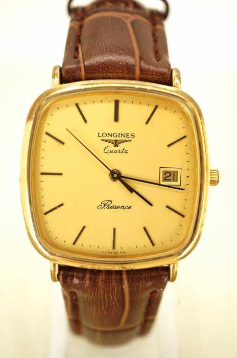 LONGINES (ロンジン) アンティーク レザーベルト 時計 レディース 腕時計
