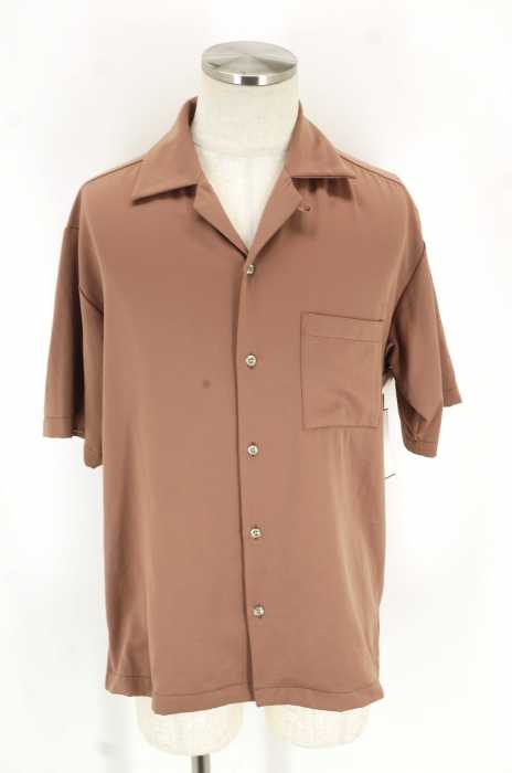STUDIOUS (ステュディオス) フィブリルサテンオープンカラーシャツ メンズ トップス