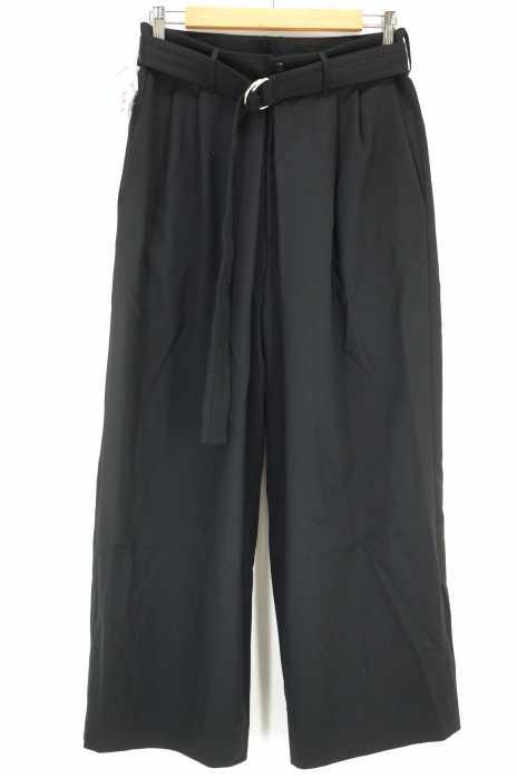 ALMOST BLACK(オールモストブラック) BELTED WIDE SLACKS ベルテッドワイドスラックス メンズ パンツ