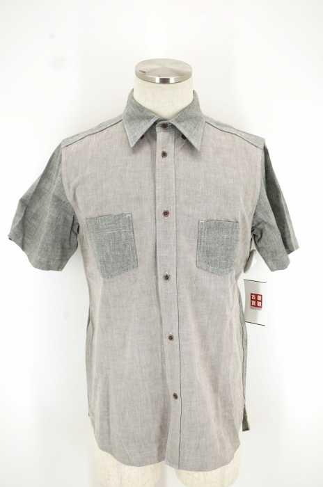 NIGEL CABOURN (ナイジェルケーボン ) 2 TONE S.S SHIRT 2トーンショートスリーブシャツ メンズ トップス