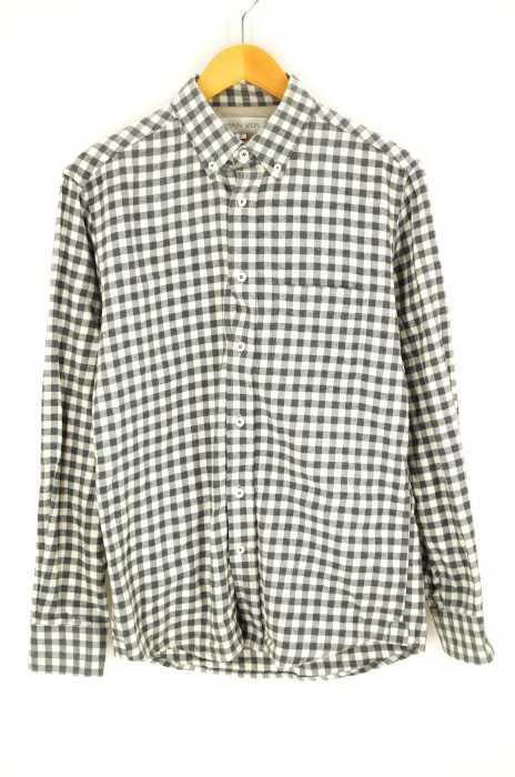 main vein(メインベイン) チェック柄ボタンダウンロングスリーブシャツ メンズ トップス