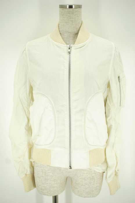 sacai luck (サカイラック) フリルMA-1ジャケット レディース アウター