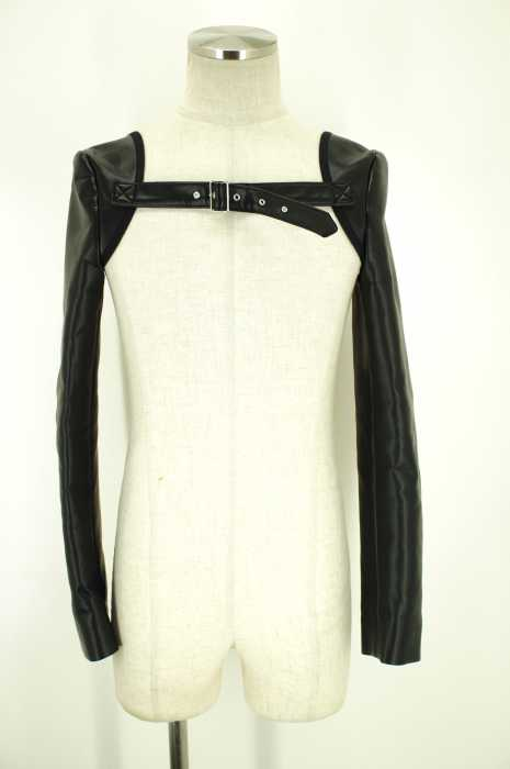 COMME des GARCONS HOMME PLUS (コムデギャルソンオムプリュス) フェイクレザーアームカバー メンズ ファッション雑貨
