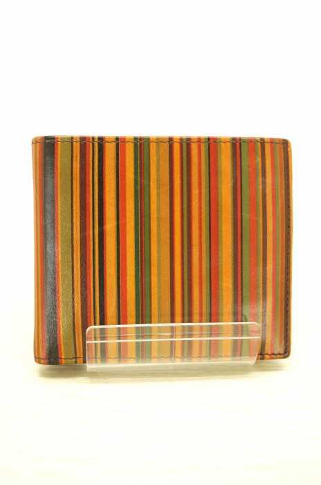 Paul Smith (ポールスミス) マルチストライプ二つ折りウォレット メンズ 財布・ケース