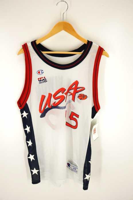 Champion (チャンピオン) 90年代  USAドリームチームNo.15  バスケットボール  メッシュタンクトップ メンズ トップス