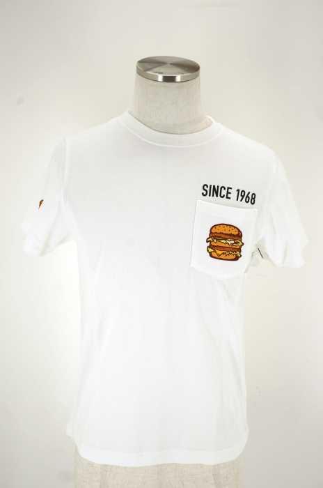 BEAMS DESIGN × McDonald's(ビームスデザイン マクドナルド) ハンバーガープリントTシャツ メンズ トップス