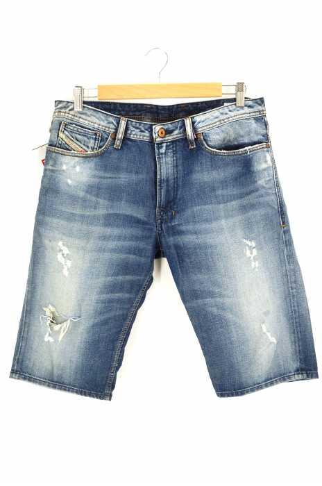 DIESEL (ディーゼル) クラッシュ加工デニムハーフパンツ メンズ パンツ