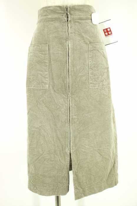 archives (アルシーヴ) フロントジップコーデュロイスカート レディース スカート