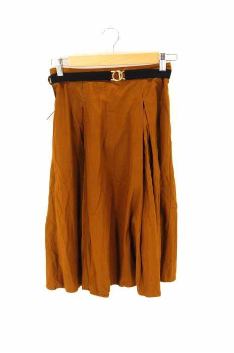 ZARA(ザラ) ベルト付きフレアスカート レディース スカート