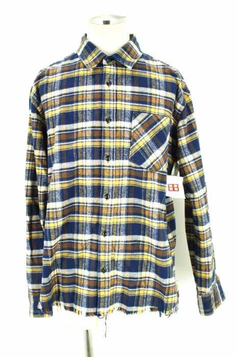 Rags MCGREGOR (ラグスマックレガー) R/C BIG FLANNEL SHIRT 裾カットオフビッグシルエット メンズ トップス