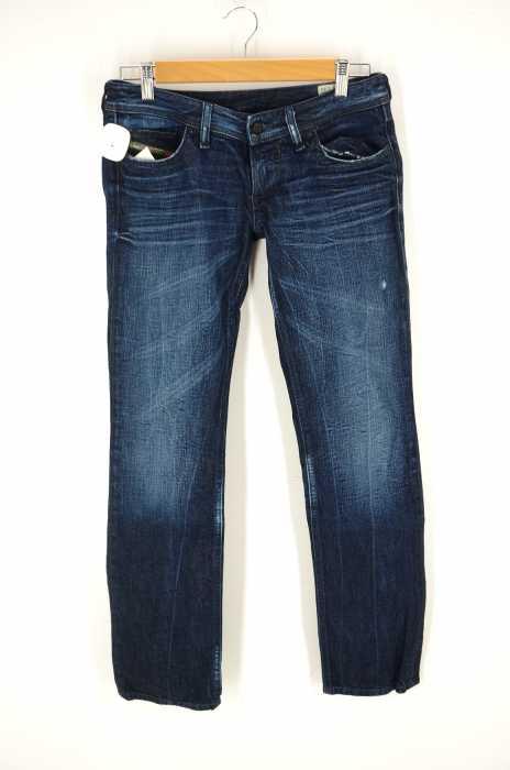 DIESEL (ディーゼル) LOWKY 008SS加工レギュラーストレートデニムパンツ イタリア製 メンズ パンツ