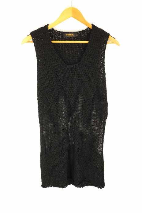 DIESEL BLACK GOLD(ディーゼルブラックゴールド) メッシュノースリーブタンクトップ レディース トップス