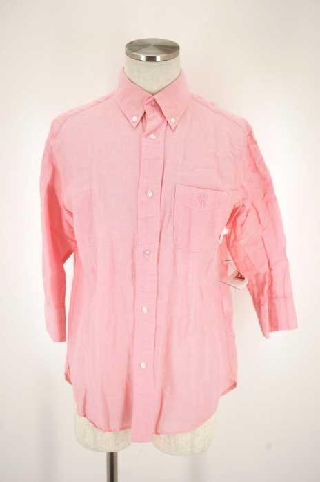coen (コーエン) 胸刺繍リネン混シャツ メンズ トップス