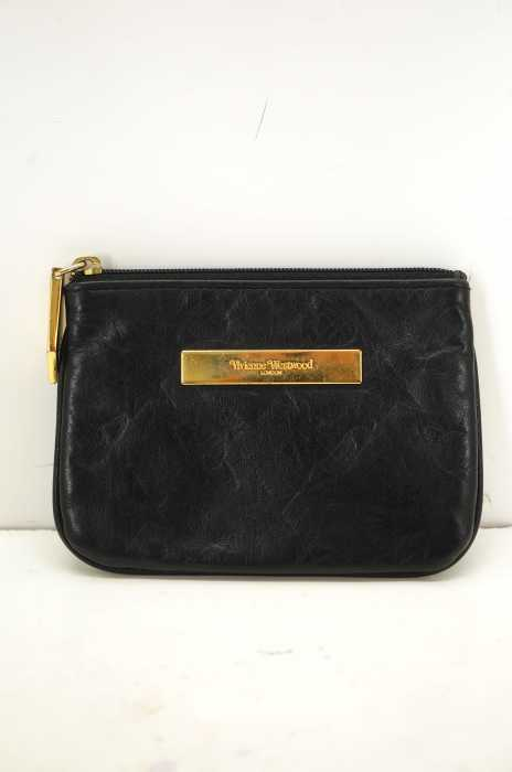 Vivienne Westwood (ヴィヴィアンウエストウッド) エンボスロゴレザーコインケース ポーチ メンズ 財布・ケース