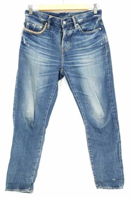 HYSTERIC GLAMOUR (ヒステリックグラマー) 16AW SP加工デニム COOL BOYS PT アンクル丈デニムパンツ レディース パンツ