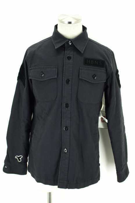 HBNS (ハバノス) ロゴ入り中綿ジャケット メンズ アウター