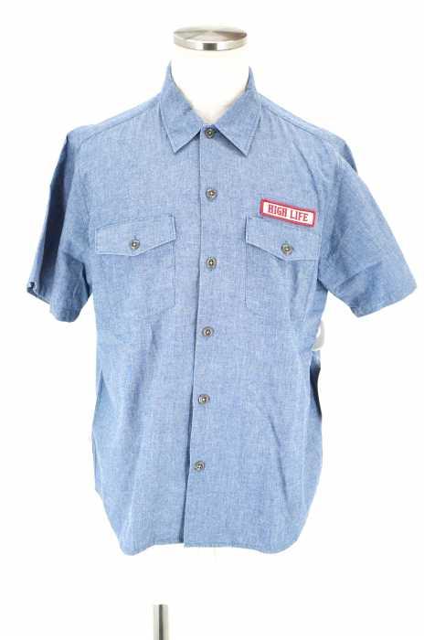 RADIALL (ラディアル) HIGH LIFE ワッペン半袖ワークシャツ メンズ トップス