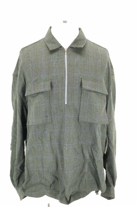 Name. (ネーム) 17AW GLEN PLAID HALF ZIP OVERSIZED SHIRT ハーフジップオーバーサイズシャツ メンズ トップス