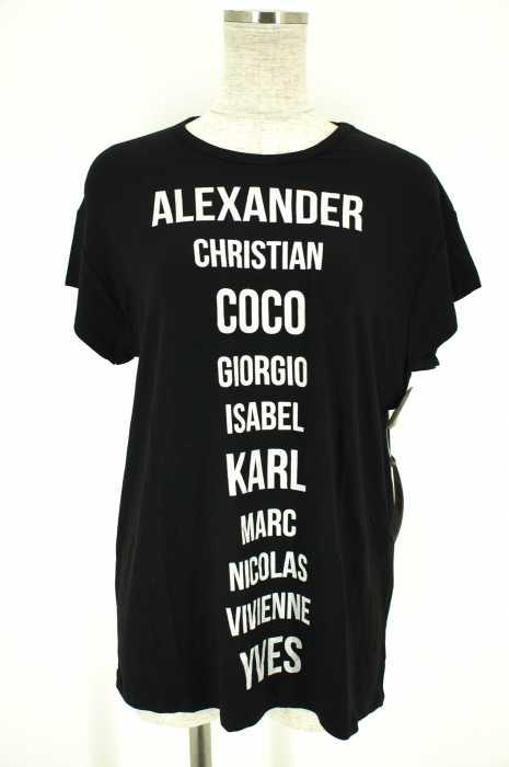 VICOLO NORTH LAND(ヴィコロノースランド) 「MAXI T SHIRT」デザイナーネームプリントTシャツ レディース トップス