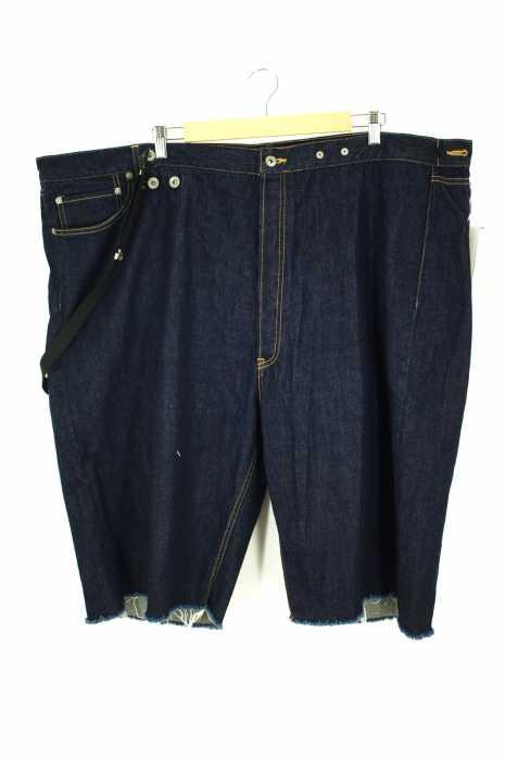 HIRO (ヒロ) サスペンダー付ビッグデニムショートパンツ メンズ パンツ