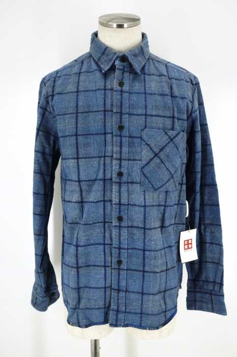 NIGEL CABOURN (ナイジェルケーボン ) FLANNEL CHECK REV. SHIRT リバーシブルヘビーネルシャツ メンズ トップス