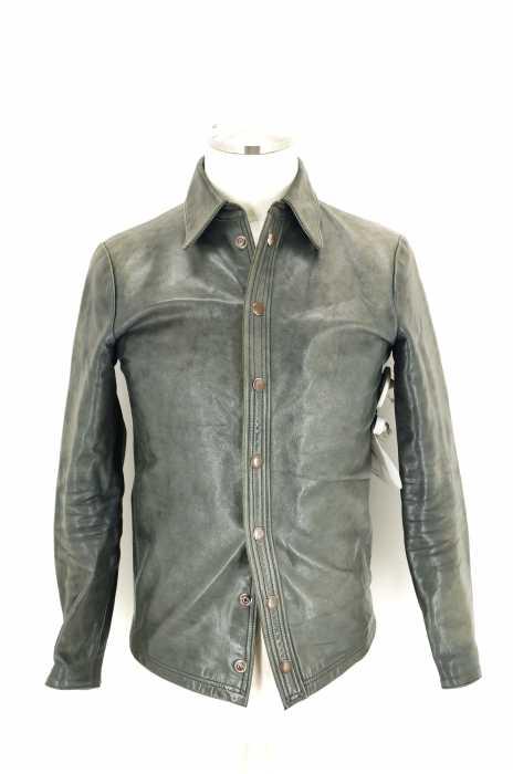 Far Eastern Enthusiast (ファーイースタンエンスージアスト) 別注 襟付きホースレザーシャツジャケット メンズ アウター