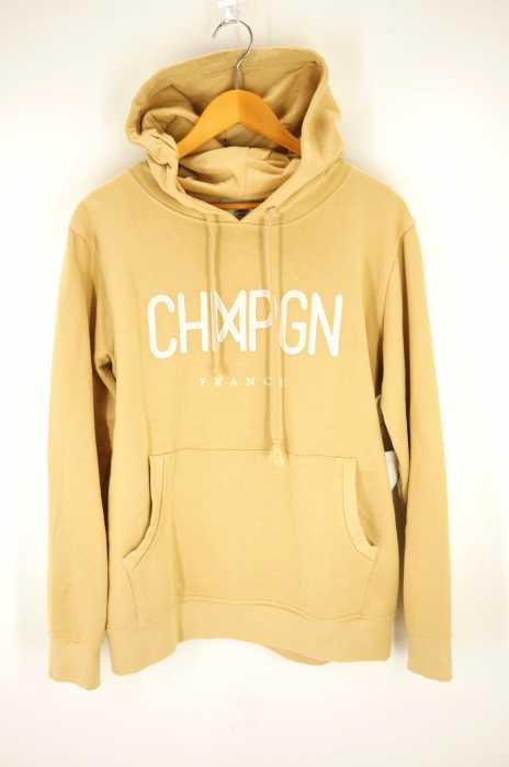 CHMPGN(シャンパン) ロゴ刺繍プルオーバーパーカー メンズ トップス