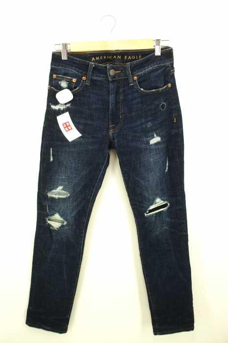 AMERICAN EAGLE OUTFITTERS (アメリカンイーグルアウトフィッターズ) ダメージリペア加工 メンズ パンツ