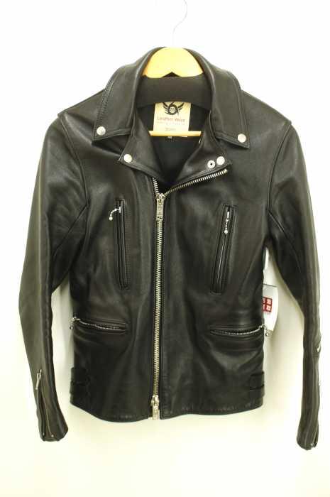 666 Leather Wear(トリプルシックスレザーウェア) タイトフィット U.K. サイドベルト ステアハイド ライダースジャケット メンズ アウター