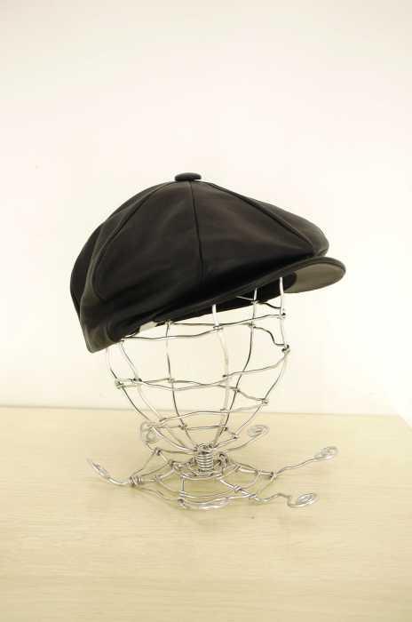 NEW YORK HAT(ニューヨークハット) MADE IN USA レザー キャスケットキャップ メンズ 帽子