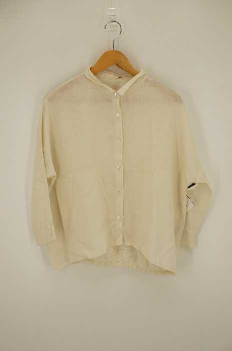 evam eva(エヴァムエヴァ) garment dyeing square shirts ガーメントダイイングスクエアシャツ レディース トップス