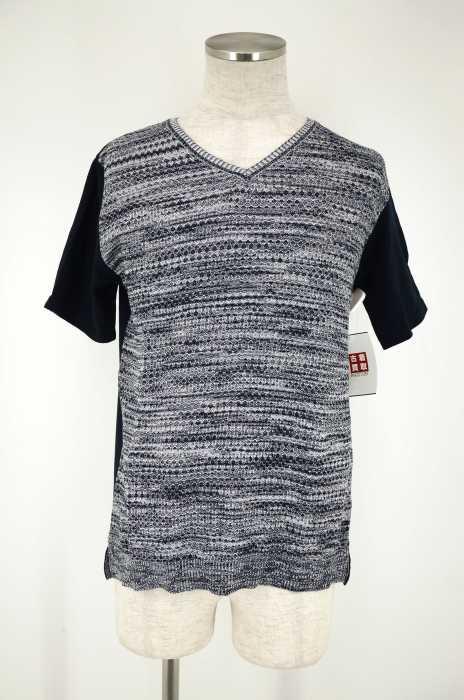MICHEL KLEIN HOMME (ミッシェルクランオム) サマーニットドッキングTシャツ メンズ トップス