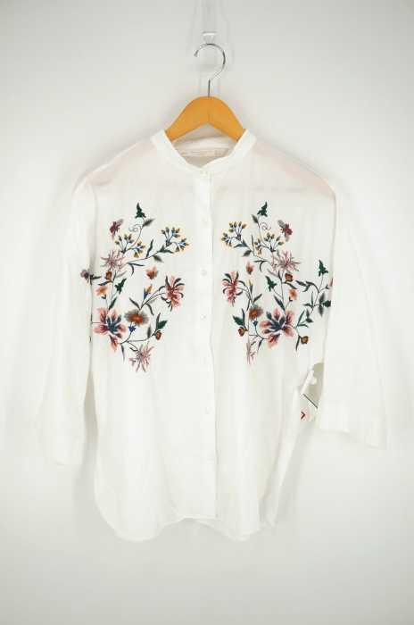 ZARA trafaluc (ザラトラファルック) 花柄 刺繍シャツ レディース トップス