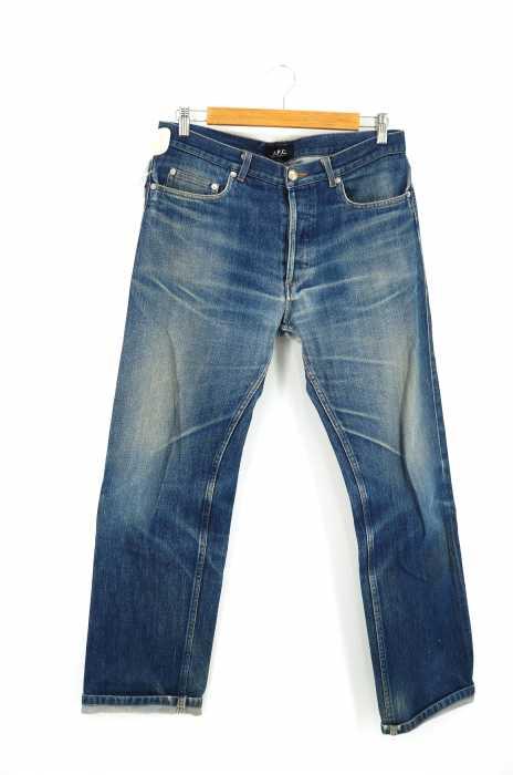 A.P.C. (アーペーセー) フロントボタン セルビッチデニムパンツ メンズ パンツ