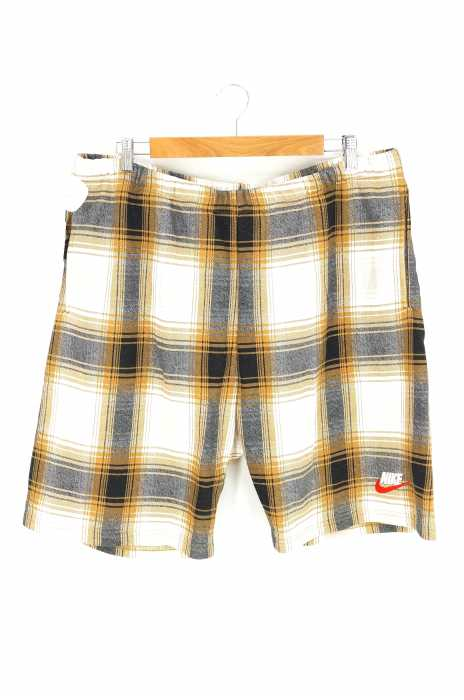 Supreme×NIKE(シュプリーム×ナイキ) チェック柄 スウェットショートパンツ メンズ パンツ