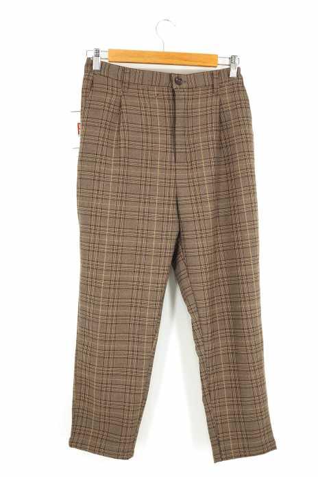 TIMELY WAERNING(タイムリーワーニング) チェック柄スラックスパンツ メンズ パンツ