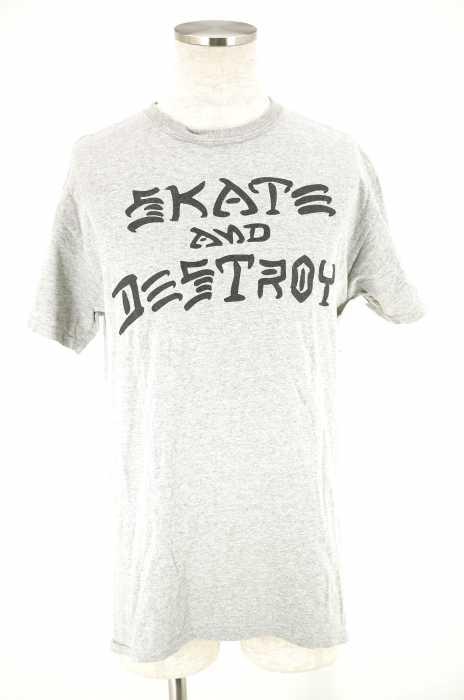 THRASHER (スラッシャー) SKATE AND DESTROY プリントTシャツ メンズ トップス