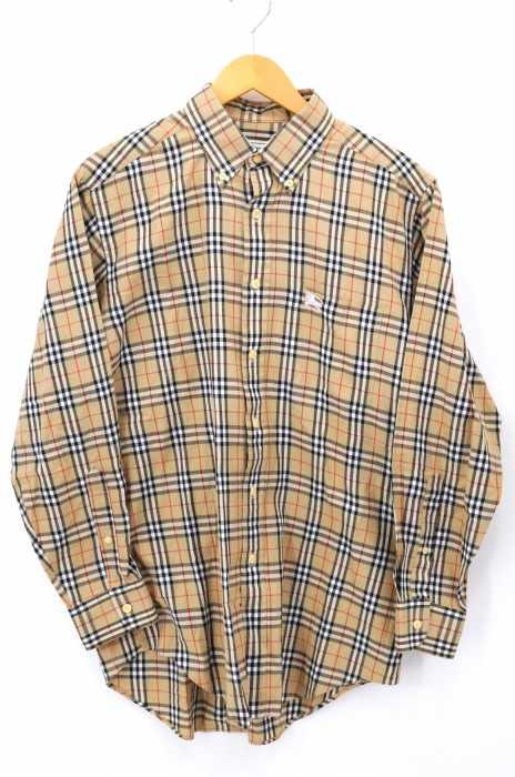 BURBERRYS(バーバリーズ) ロゴ刺繍 ノバチェック長袖BDシャツ メンズ トップス
